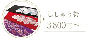 ししゅう衿 3,800円~