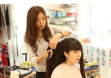 振袖の印象を決めるヘアスタイル