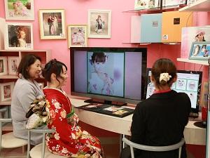 成人式の振袖レンタル スタジオCoco イオン福島店 内観